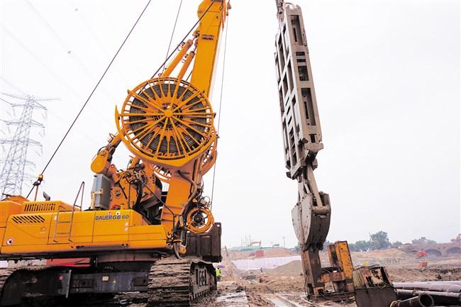 海門灣橋閘重建工程完成一期圍堰